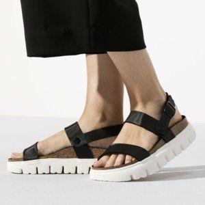 Birkenstock Platform Chunky Cameron Black sandal.